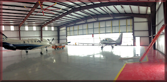 Metal construction airplane hangar