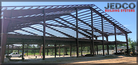 Steel building framework